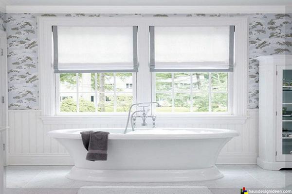 Quel store ou rideau choisir dans une salle de bains - Rideau pour salle de bain ...