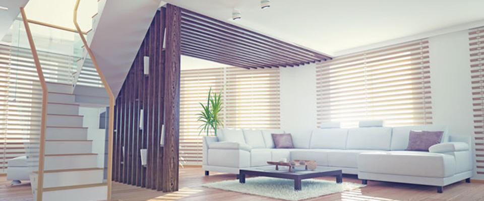 quels stores et rideaux pour un loft. Black Bedroom Furniture Sets. Home Design Ideas