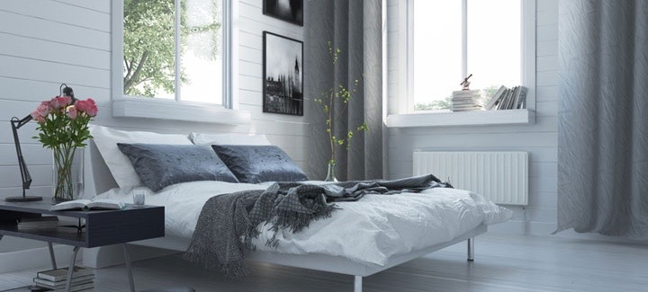 Rideau tamisant ambiance scandinave