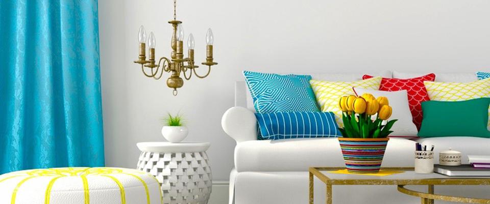 choisir des stores et rideaux bleus. Black Bedroom Furniture Sets. Home Design Ideas