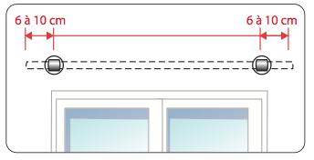 Comment poser votre tringle rideaux d corative for Poser une tringle a rideaux