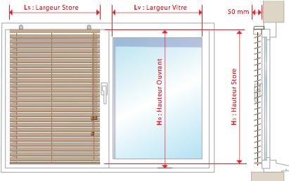 comment prendre les mesures de votre store v nitien bois. Black Bedroom Furniture Sets. Home Design Ideas