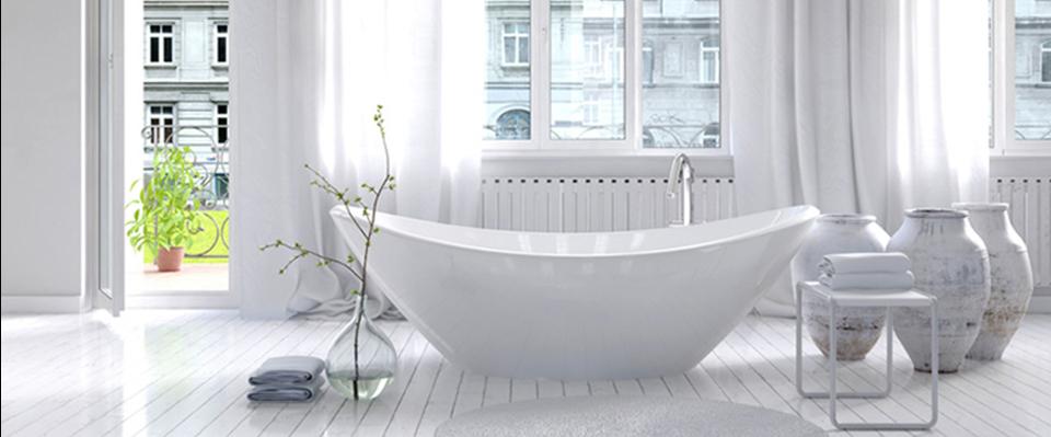 Quels stores et rideaux pour une salle de bain for Modele de rideau pour fenetre de salle de bain