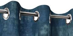 Conseils pour acheter et poser vos rideaux en lin sur mesure - Rideau tie and dye ...