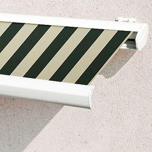 Store Banne Coffre Terrasse Toiles Rayures Classiques