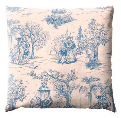 coussins toile de jouy gamme de coussins motifs toile de jouy. Black Bedroom Furniture Sets. Home Design Ideas