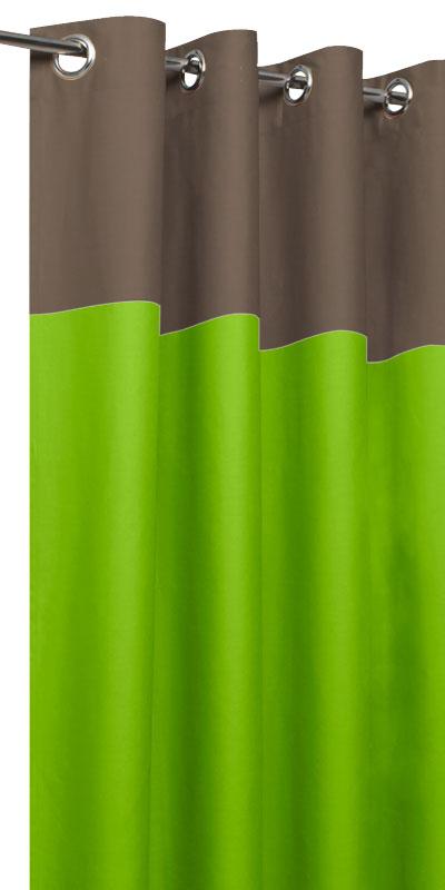 rideaux tamisants bicolores t te taupe. Black Bedroom Furniture Sets. Home Design Ideas
