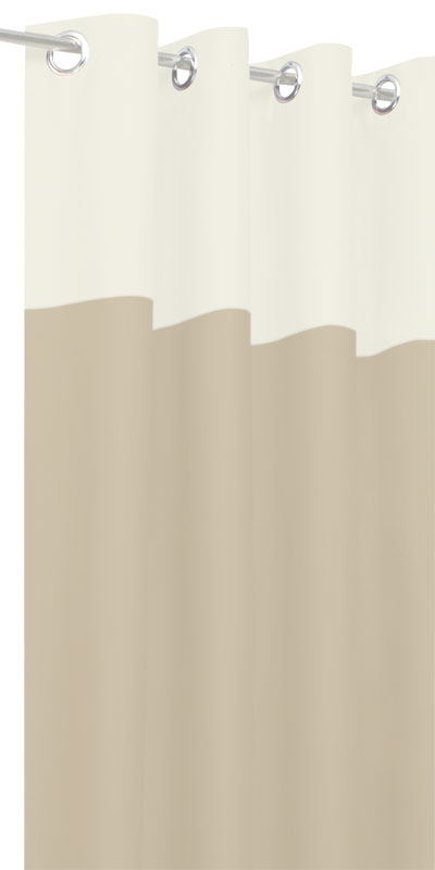 Rideaux Tamisants Bicolores - Tête Blanche