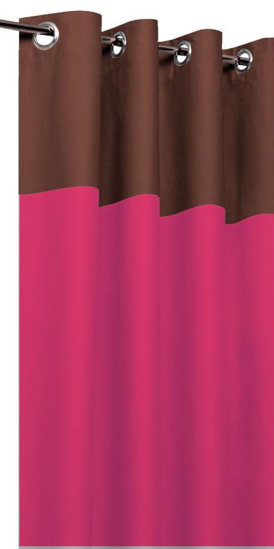 rideaux tamisants bicolores t te chocolat. Black Bedroom Furniture Sets. Home Design Ideas